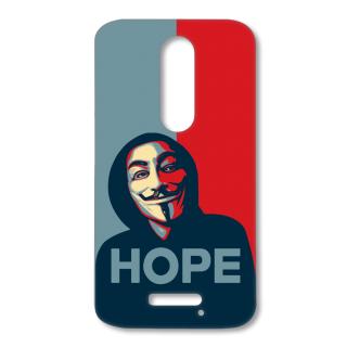MOTO X FORCE Designer Hard-Plastic Phone Cover from Print Opera - Hope