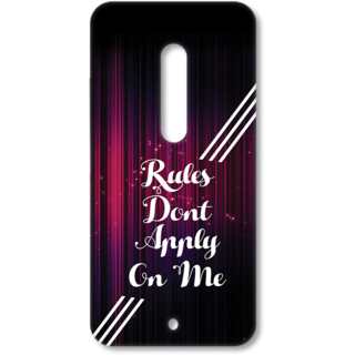 MOTO X Play Designer Hard-Plastic Phone Cover from Print Opera - Rules Dont Apply on me