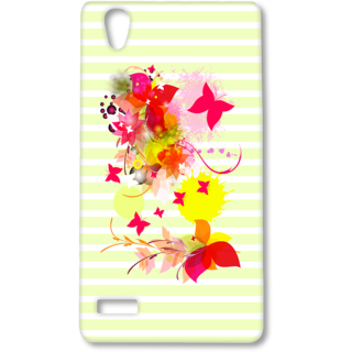 Oppo F1 Designer Hard-Plastic Phone Cover from Print Opera - Pink Floral