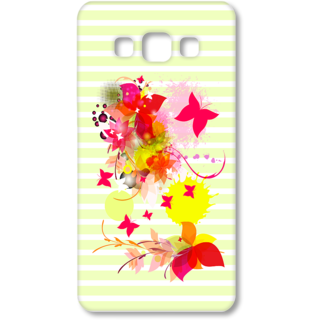 SAMSUNG GALAXY A7 Designer Hard-Plastic Phone Cover from Print Opera - Pink Floral