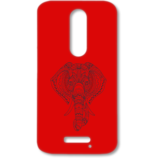 MOTO X FORCE Designer Hard-Plastic Phone Cover from Print Opera - Artistic Elephant