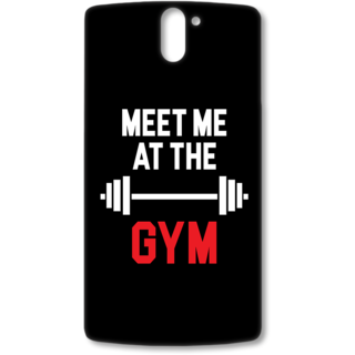 ONE PLUS ONE Designer Hard-Plastic Phone Cover from Print Opera - Meet me at the Gym