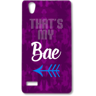 Oppo F1 Designer Hard-Plastic Phone Cover from Print Opera - Thats my Bae
