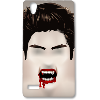 Oppo F1 Designer Hard-Plastic Phone Cover from Print Opera - Bloody Vampire