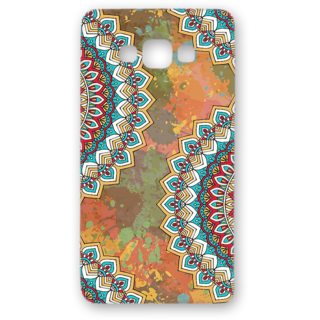 SAMSUNG GALAXY A8 Designer Hard-Plastic Phone Cover from Print Opera - Vintage Round Floral