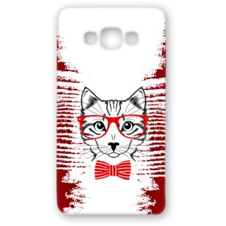 SAMSUNG GALAXY A8 Designer Hard-Plastic Phone Cover from Print Opera - Seholastic Cat