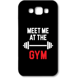 SAMSUNG GALAXY E7 Designer Hard-Plastic Phone Cover from Print Opera - Meet me at the Gym