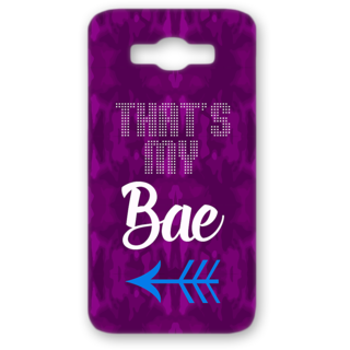 SAMSUNG GALAXY J7 Designer Hard-Plastic Phone Cover from Print Opera - Thats my Bae