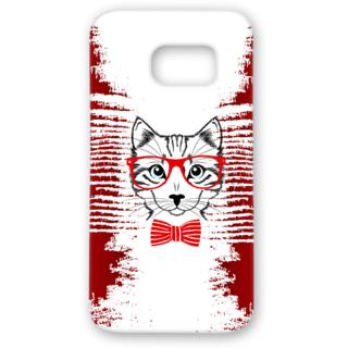 SAMSUNG GALAXY S7 Designer Hard-Plastic Phone Cover from Print Opera - Seholastic Cat