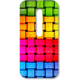 MOTO G3 Designer Hard-Plastic Phone Cover from Print Opera - Coloured Lines