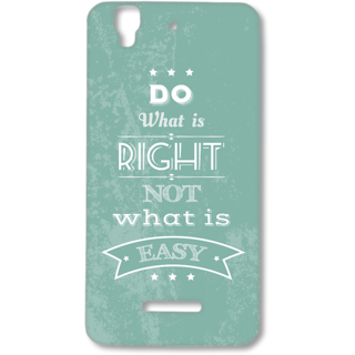 MICROMAX YUREKA Designer Hard-Plastic Phone Cover from Print Opera - Quotes