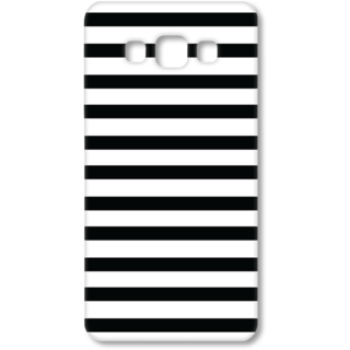 SAMSUNG GALAXY A7 Designer Hard-Plastic Phone Cover from Print Opera - Black and White
