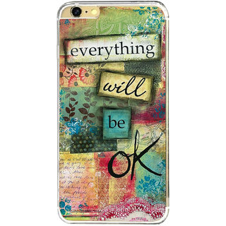 ifasho everything will be ok quotes Back Case Cover for   6