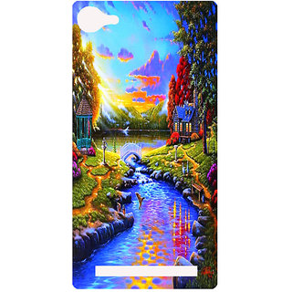 Amagav Printed Back Case Cover for Lava A76 94LavaA76