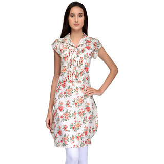 Tunic Nation Women's A-Line Floral Print Kurti