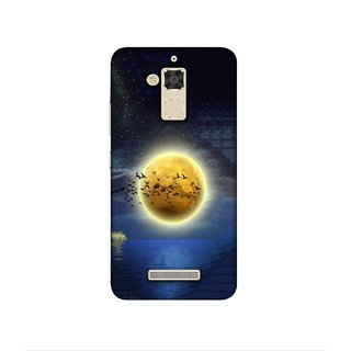 Casotec Moon View Design 3D Printed Hard Back Case Cover for Asus Zenfone 3 Max ZC520TL
