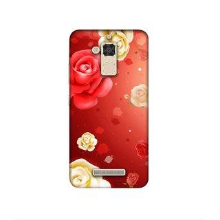 Casotec Red Rose Design 3D Printed Hard Back Case Cover for Asus Zenfone 3 Max ZC520TL