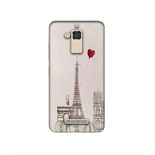 Casotec Paris Red Heart Design 3D Printed Hard Back Case Cover for Asus Zenfone 3 Max ZC520TL
