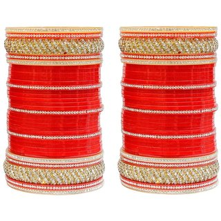 MUCH MORE Beautiful Lac Kada Bridal Chura Wedding Jewelry For Women & Girls Bangles