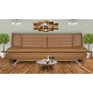 DOLPHIN ELITE MODULAR SOFA CUM BED 3- SEATER-(LEATHERRETE) -BAIGE