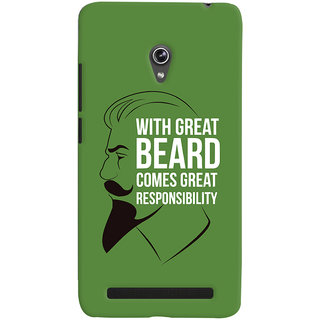 ColourCrust Beard Quote Quirky Printed Designer Back Cover For Asus Zenfone 6 Mobile Phone - Matte Finish Hard Plastic Slim Case