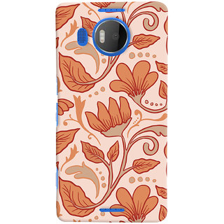 ColourCrust Floral Pattern Style Printed Designer Back Cover For Microsoft Lumia 950 XL Mobile Phone - Matte Finish Hard Plastic Slim Case