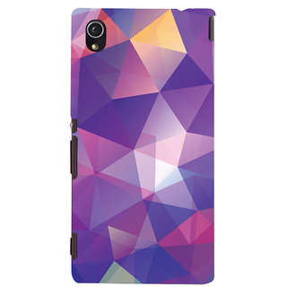 ColourCrust Abstract Art Pattern Style Printed Designer Back Cover For Sony Xperia M4 Aqua - Not Dual Mobile Phone - Matte Finish Hard Plastic Slim Case
