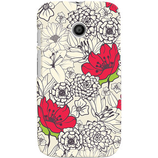 ColourCrust Floral Pattern Style Printed Designer Back Cover For Motorola Moto E Mobile Phone - Matte Finish Hard Plastic Slim Case
