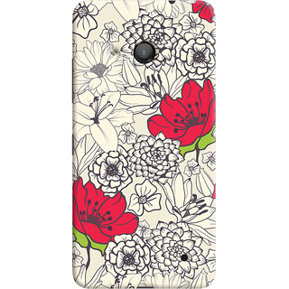 ColourCrust Floral Pattern Style Printed Designer Back Cover For Microsoft Lumia 550 Mobile Phone - Matte Finish Hard Plastic Slim Case