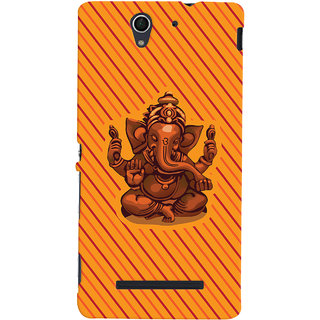 ColourCrust Lord Ganesha Ganpati Devotional Printed Designer Back Cover For Sony Xperia C3 / Dual Sim Mobile Phone - Matte Finish Hard Plastic Slim Case