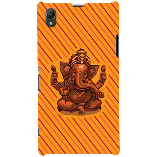 ColourCrust Lord Ganesha Ganpati Devotional Printed Designer Back Cover For Sony Xperia Z1 Mobile Phone - Matte Finish Hard Plastic Slim Case