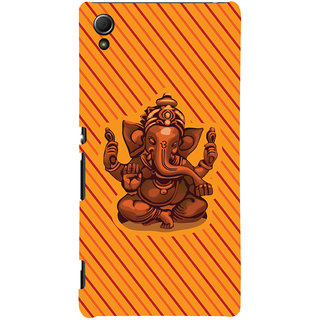ColourCrust Lord Ganesha Ganpati Devotional Printed Designer Back Cover For Sony Xperia Z4 Mobile Phone - Matte Finish Hard Plastic Slim Case