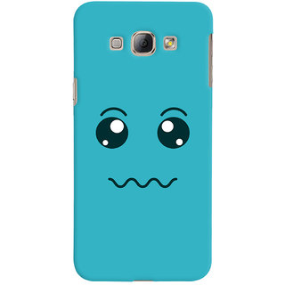 ColourCrust Smiley Expressions Style Printed Designer Back Cover For Samsung Galaxy A8 (2015) Mobile Phone - Matte Finish Hard Plastic Slim Case