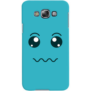 ColourCrust Smiley Expressions Style Printed Designer Back Cover For Samsung Galaxy E7 Mobile Phone - Matte Finish Hard Plastic Slim Case