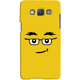 ColourCrust Quirky Smiley Expression Printed Designer Back Cover For Samsung Galaxy A5 (2015) Mobile Phone - Matte Finish Hard Plastic Slim Case