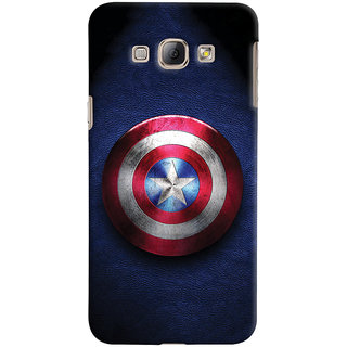 ColourCrust Captain America Printed Designer Back Cover For Samsung Galaxy A8 (2015) Mobile Phone - Matte Finish Hard Plastic Slim Case