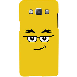 ColourCrust Quirky Smiley Expression Printed Designer Back Cover For Samsung Galaxy E5 Mobile Phone - Matte Finish Hard Plastic Slim Case