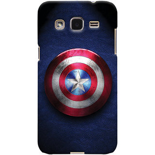 ColourCrust Captain America Printed Designer Back Cover For Samsung Galaxy J2 Mobile Phone - Matte Finish Hard Plastic Slim Case