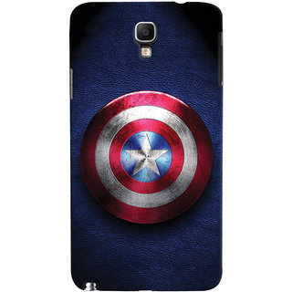 ColourCrust Captain America Printed Designer Back Cover For Galaxy Note 3 Neo Mobile Phone - Matte Finish Hard Plastic Slim Case