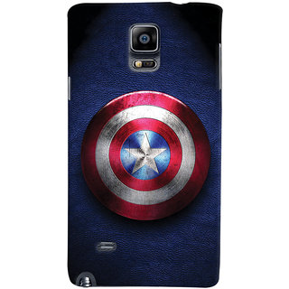 ColourCrust Captain America Printed Designer Back Cover For Samsung Galaxy Note 4 Mobile Phone - Matte Finish Hard Plastic Slim Case