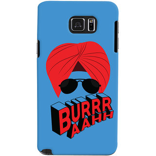ColourCrust Burraah Punjabi Style Printed Designer Back Cover For Samsung Galaxy Note 5 Mobile Phone - Matte Finish Hard Plastic Slim Case