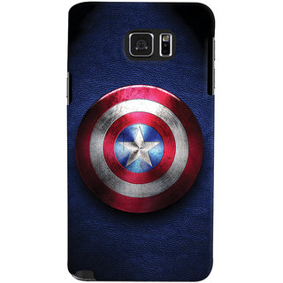 ColourCrust Captain America Printed Designer Back Cover For Samsung Galaxy Note 5 Mobile Phone - Matte Finish Hard Plastic Slim Case