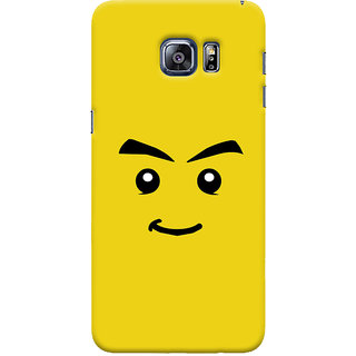 ColourCrust Sarcastic Smiley Quirky Printed Designer Back Cover For Samsung Galaxy S6 Edge Plus Mobile Phone - Matte Finish Hard Plastic Slim Case