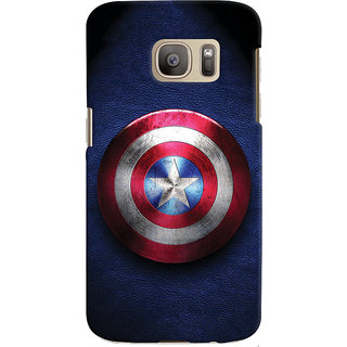 ColourCrust Captain America Printed Designer Back Cover For Samsung Galaxy S7 Mobile Phone - Matte Finish Hard Plastic Slim Case