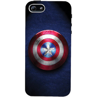 ColourCrust Captain America Printed Designer Back Cover For  5S Mobile Phone - Matte Finish Hard Plastic Slim Case