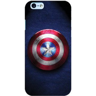 ColourCrust Captain America Printed Designer Back Cover For New  6 Mobile Phone - Matte Finish Hard Plastic Slim Case