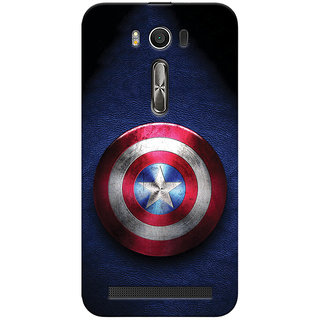 ColourCrust Captain America Printed Designer Back Cover For Asus Zenfone 2 Laser ZE500KL Mobile Phone - Matte Finish Hard Plastic Slim Case