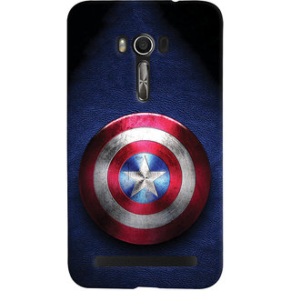 ColourCrust Captain America Printed Designer Back Cover For Asus Zenfone Go Mobile Phone - Matte Finish Hard Plastic Slim Case