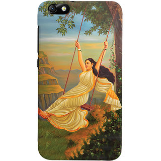 ColourCrust Meera Mythological Art Printed Designer Back Cover For Huawei Honor 4X / Dual Sim / Glory Play Mobile Phone - Matte Finish Hard Plastic Slim Case