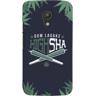 ColourCrust Dum Laga Ke Highsha Quirky Printed Designer Back Cover For Motorola Moto G2 / Second Generation Mobile Phone - Matte Finish Hard Plastic Slim Case